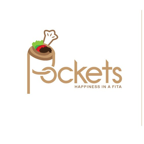 Chef hat logo with the title 'Pockets Fita'