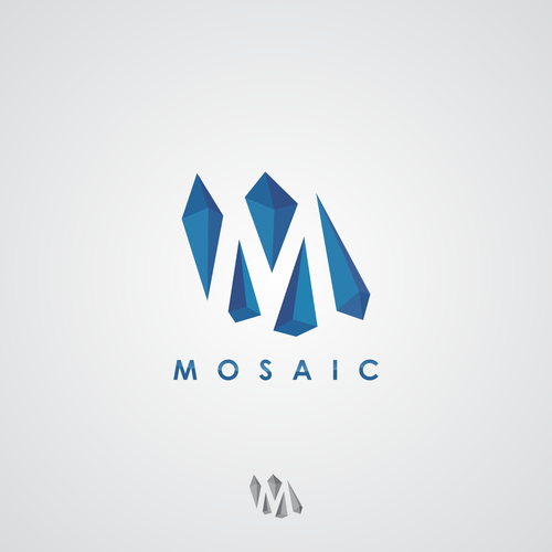 Mosaic logo with the title 'Create a logo from mosaic pieces for our new marketing firm'