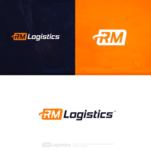 Road brand with the title 'logistics logo'