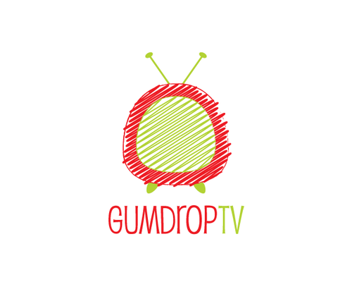 Scribble design with the title 'Gumdrop - new children's video portal'
