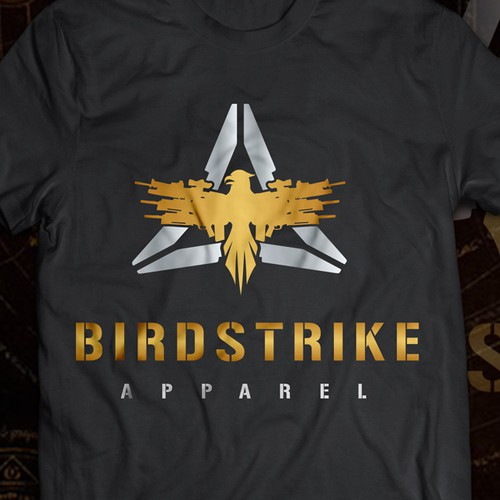 Army t-shirt with the title 'BIRDSTRIKE'
