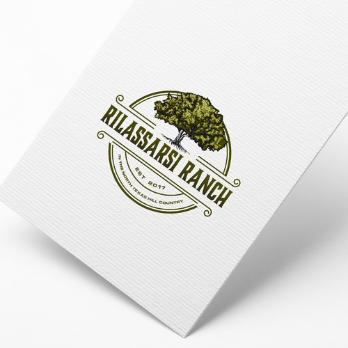 Country logo with the title 'Vintage retro logo for Rilassari Ranch !'