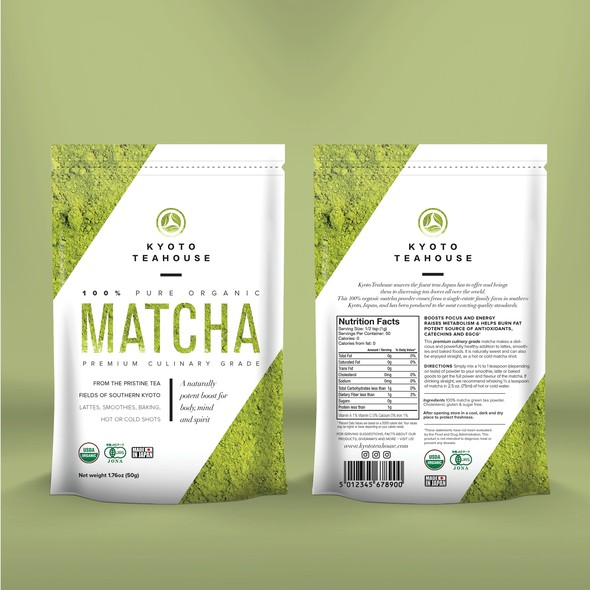 Match design with the title 'Matcha Tea packaging'