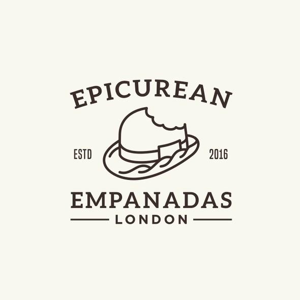 Pastry design with the title 'EPICUREAN EMPANADAS'