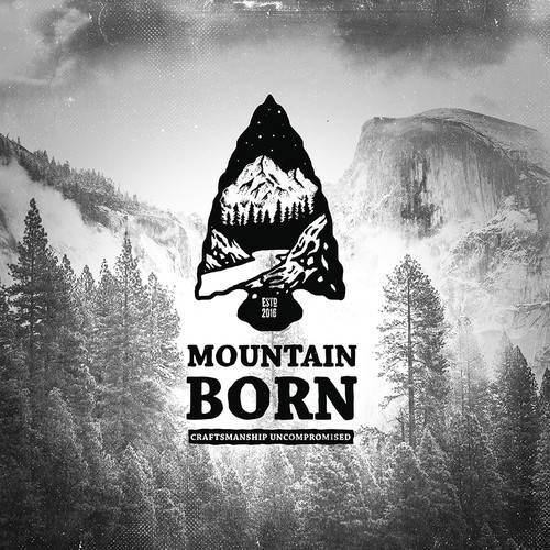 Adventure logo with the title 'Mountain Born'