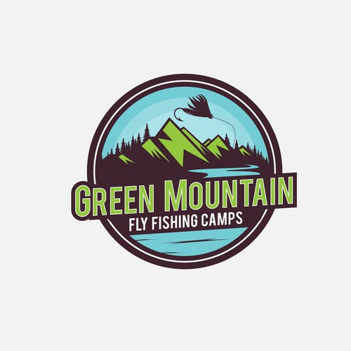 Camping logo with the title 'Logo Design'