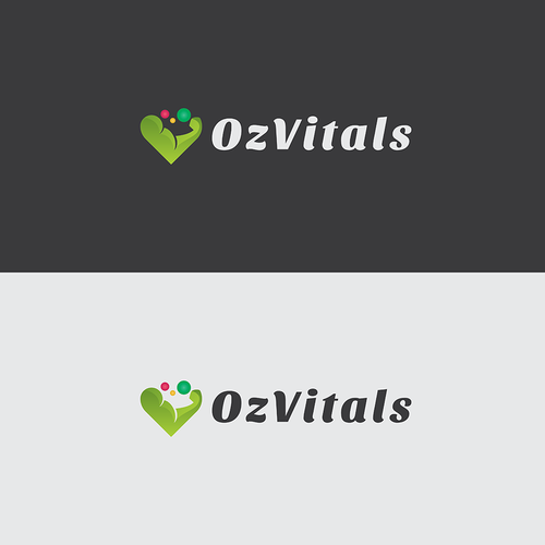 Vitality logo with the title 'Logo for Nutrition & Fitness business'