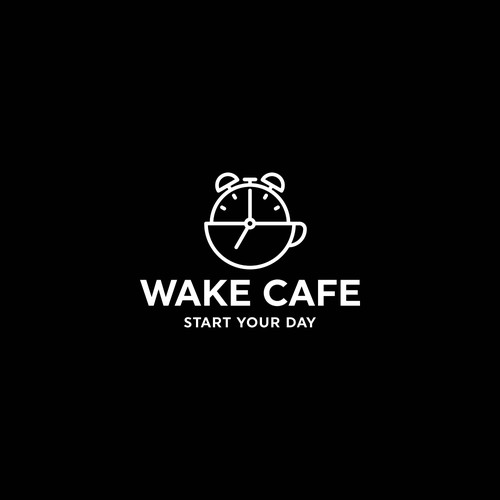 Clock design with the title 'Cafe Logo Design'