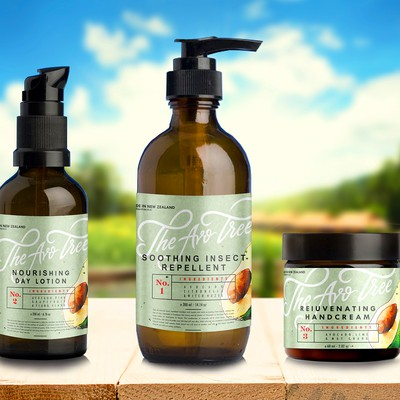 Labels The Ave Tree natural cosmetics