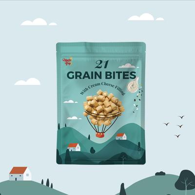 21 Grain Bites Packaging Design
