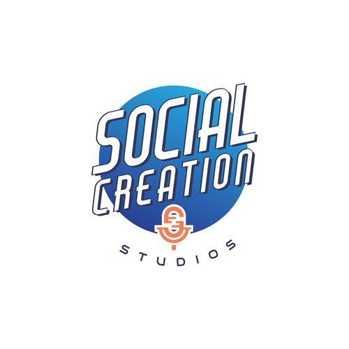 Podcast brand with the title 'Social Creations Studio'