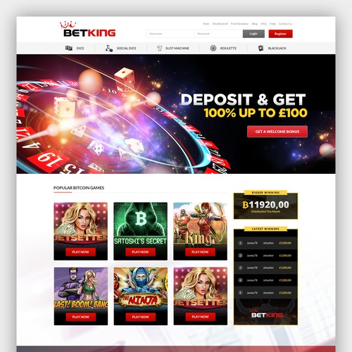 Poker design with the title 'BETKING - Casino online'