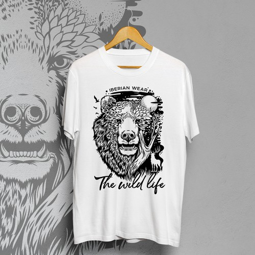 Modern t-shirt with the title 'The wild life'
