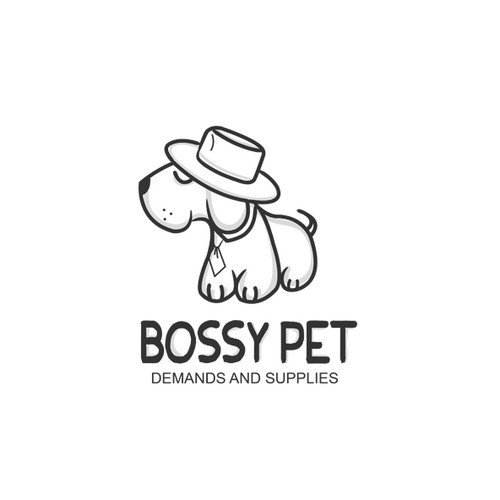 Special logo with the title 'Bossy Pet'