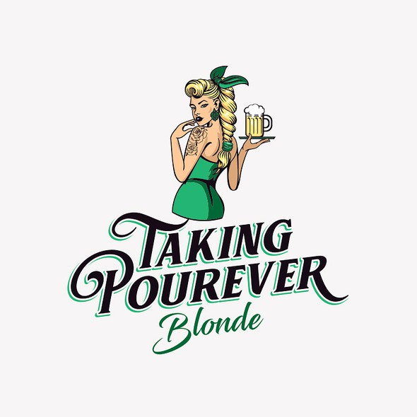Blonde design with the title 'Beer logo'