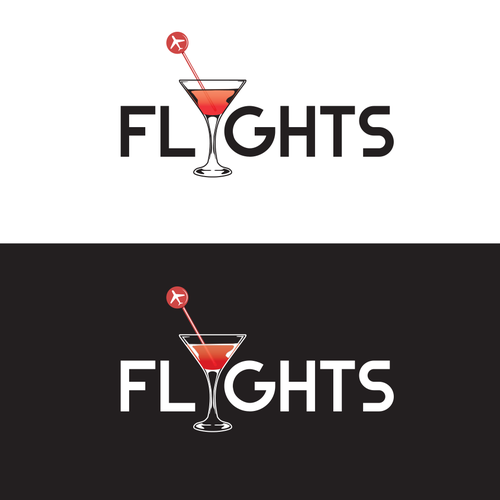 Atlanta logo with the title 'Flights bar logo'
