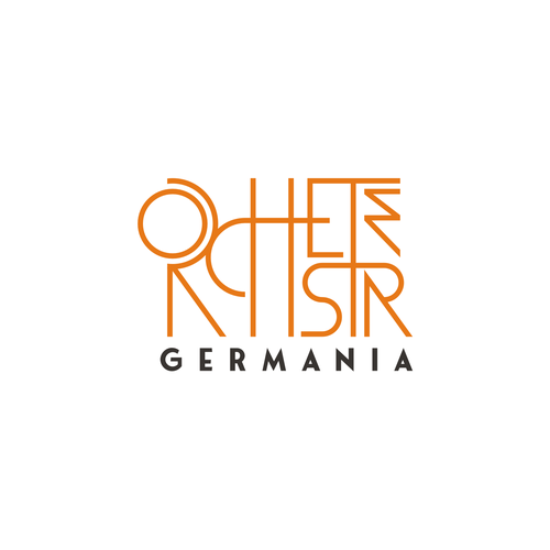 Singer logo with the title 'Orchester Germania'