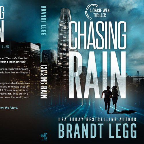Suspense book cover with the title 'Chasing Rain - A Chase Wen Thriller'