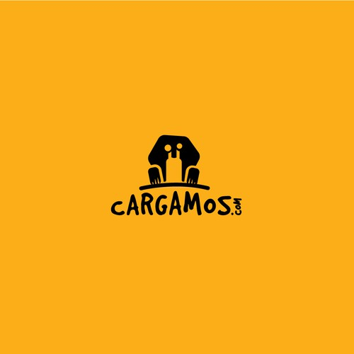 Snail design with the title 'Logo for cargo delivery app'