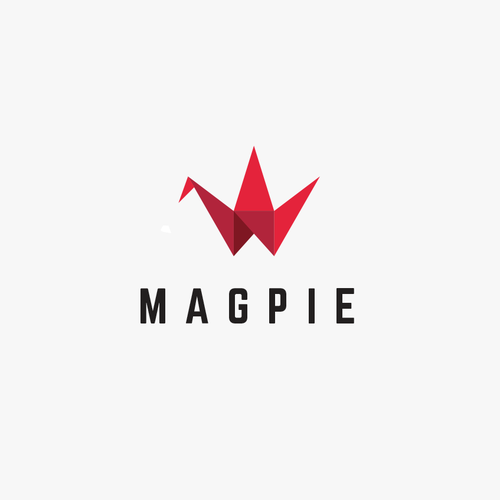Bold brand with the title 'Logo Design for a Consulting Firm - MagPie'