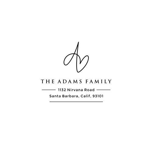 Family crest design with the title 'Logo design for The Adams Family'