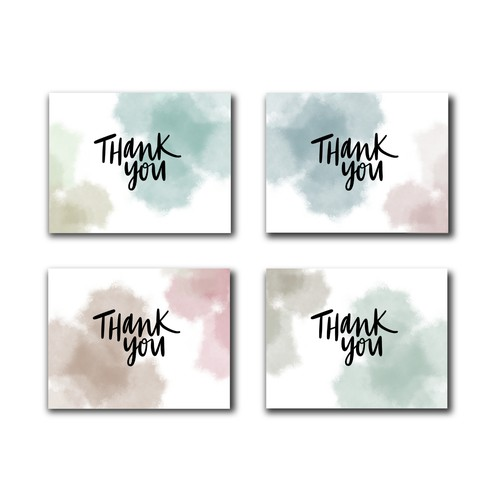 Thank you design with the title 'Simple Thank You Card Design - contest submission'