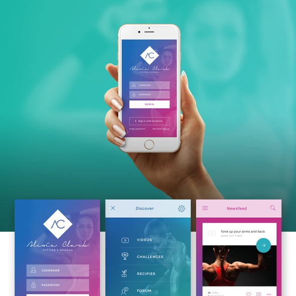 Colorful design with the title 'App Design'