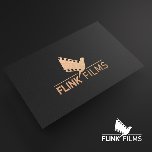 Flying bird design with the title 'bird wing film logo'