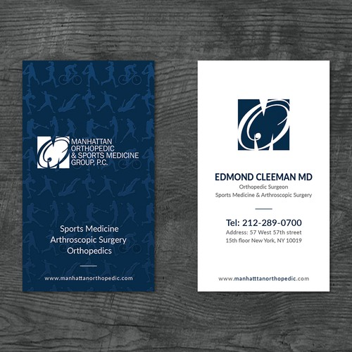 Spot UV design with the title 'Business Card Design'