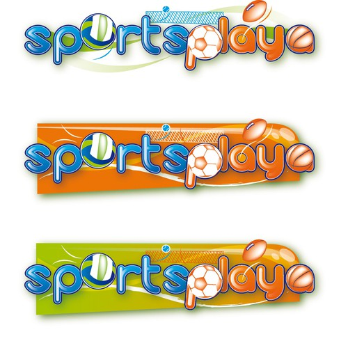 Glossy logo with the title 'Logo for New Sports Concept Website'