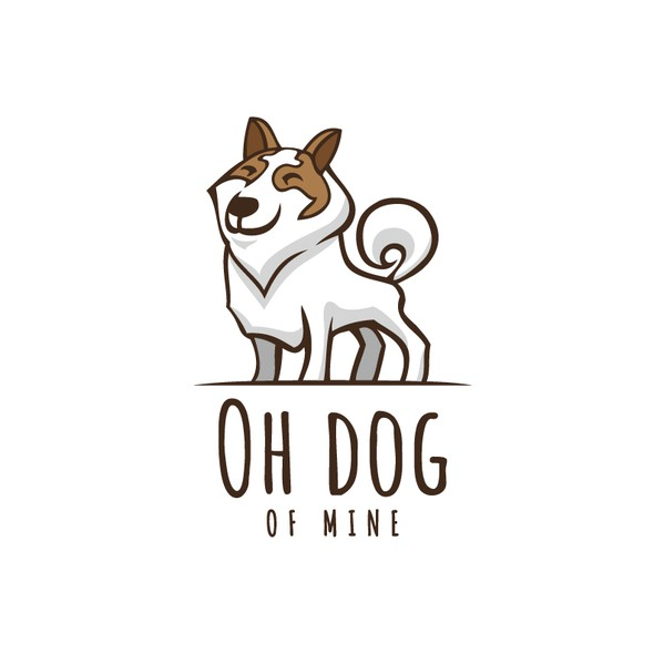 Husky logo with the title 'Oh dog of mine'
