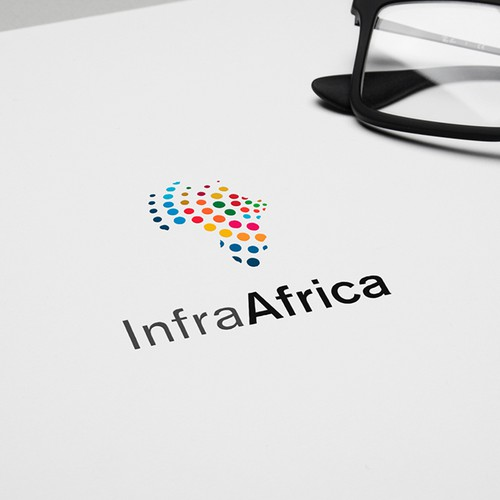 Multicolor logo with the title 'Infra Africa'