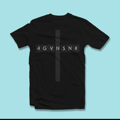 "Minimalist t-shirt with the title '""4GVNSNR"" Christian t-shirt'"