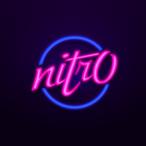 Neon logo with the title 'Custom text for Professional Esports Player (VIDEO GAME)'