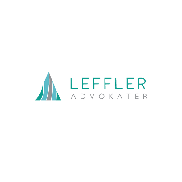 Advocacy logo with the title 'Leffler Advokatbyrå LOGO Contest.'