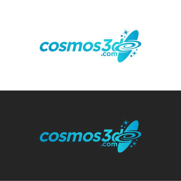 Black star logo with the title 'cosmos3d.com'