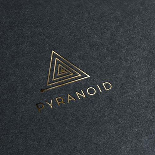 Pyramid design with the title 'logo design '