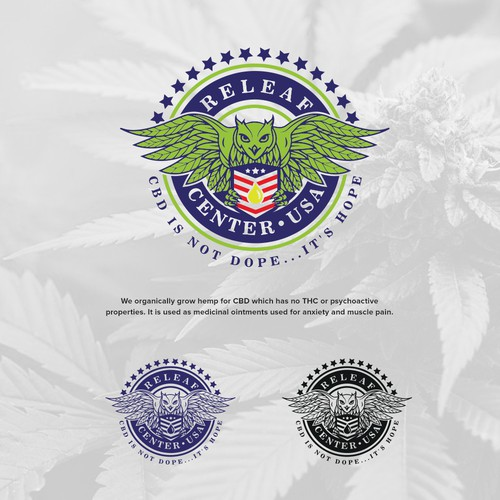Cannabis leaf logo with the title 'Releaf'