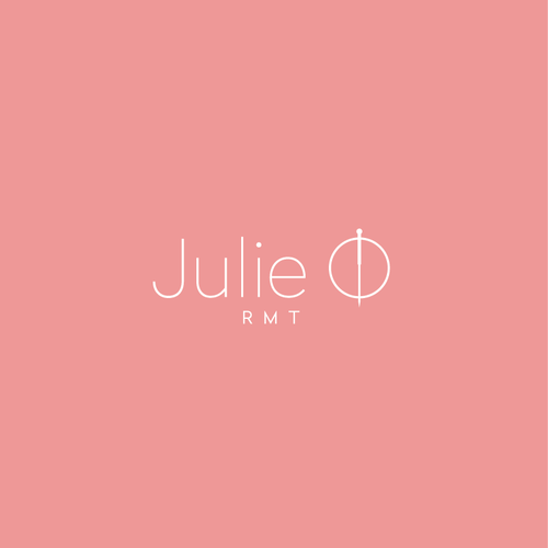Pink logo with the title 'Julie O Logo'