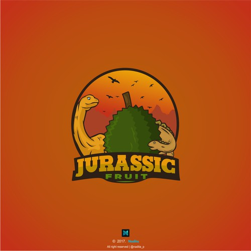 Fruit design with the title 'Logo for Jurassic fruit'