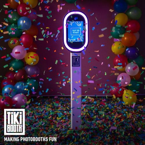Tiki design with the title 'Tiki Booth Logo'