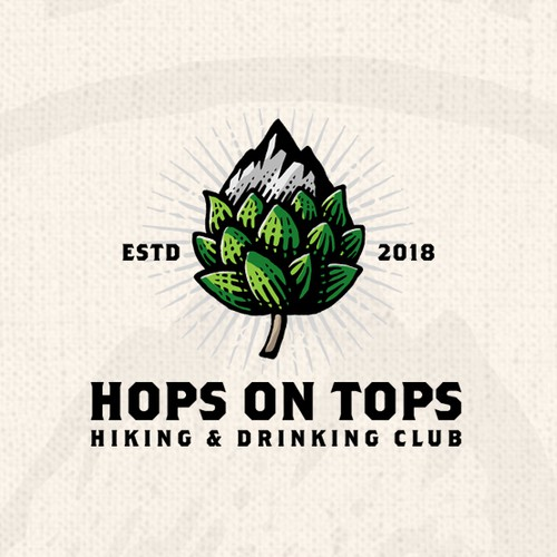 Nature logo with the title 'Hops On Tops'