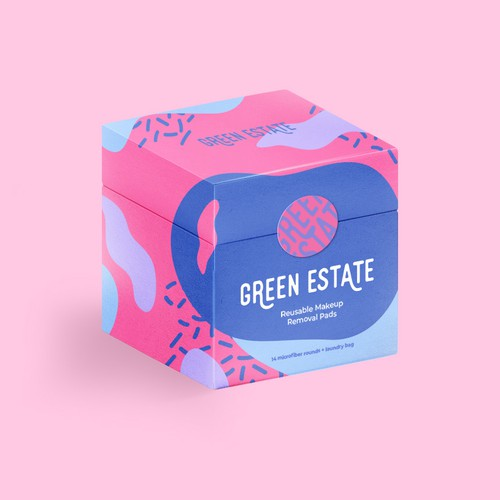 Pastel packaging with the title 'Green Estate'