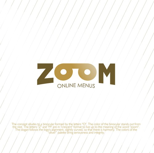 Menu logo with the title 'Simple and conceptual logo for Zoom Online Menus'