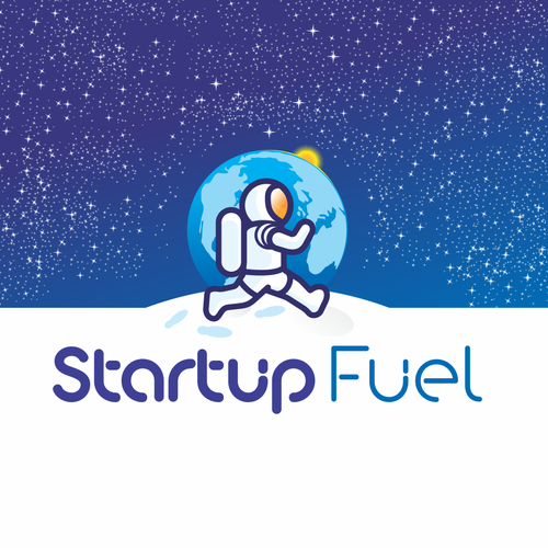 Space brand with the title 'logo for startup fuel'