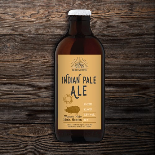 Traditional label with the title 'Beerlabel'