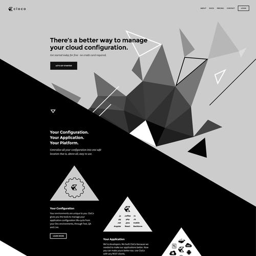 Triangle design with the title 'cloco Website Design'