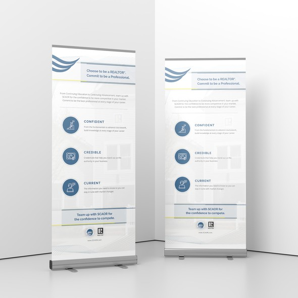 Stand design with the title 'Print Design for Real Estate'