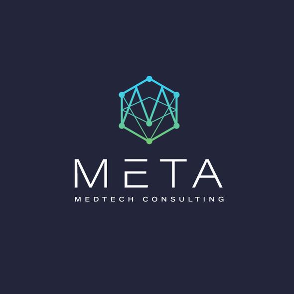 Green tech logo with the title 'META '