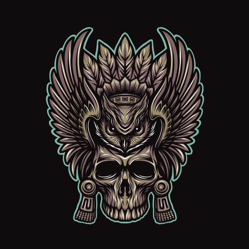Owl design with the title 'SS MICTLAN'
